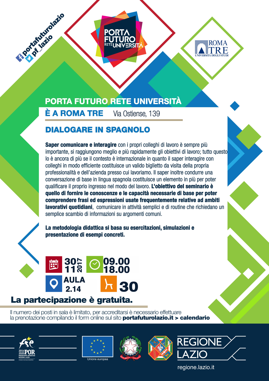 Calendario In Spagnolo.Scheda Attivita Dialogare In Spagnolo Porta Futuro Lazio